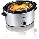 Cheap Hamilton Beach 5-Quart Portable Slow Cooker With Stoneware and Glass Lid (Sliver)
