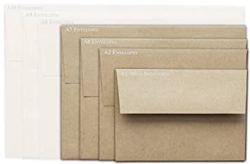 Amazon.com : Brown Bag Envelopes - KRAFT - A7 Envelopes - 50 PK ...