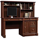 Sauder 420513 Palladia Computer Desk and Hutch, Cherry