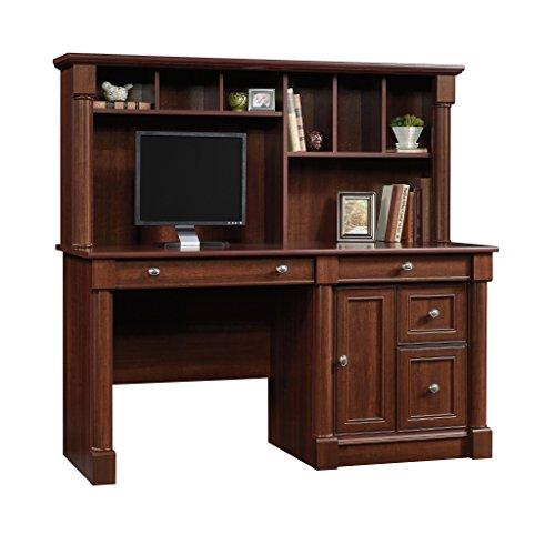 Sauder 420513 Palladia Computer Desk and Hutch, L: 59.49