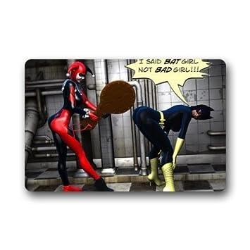 Custom Harley Quinn Batman Joker Doormats Floor Mat Door Mat Rug  Indoor/Outdoor Mats Welcome