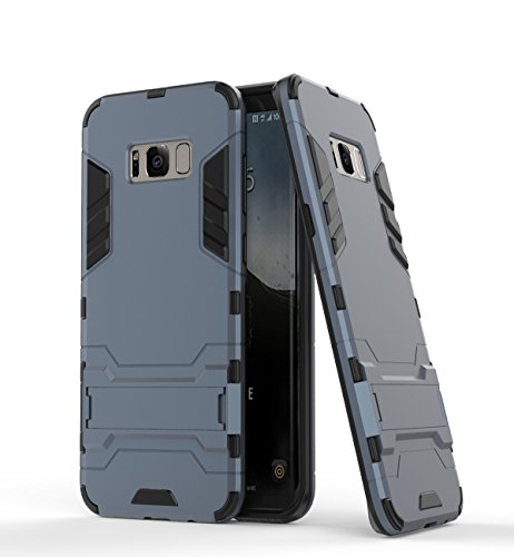 - BearDaDa Samsung Galaxy S8 Plus Case with Kickstand, Heavy Duty PC&TPU Shockproof Protective 6.2inches Cover Impact Resistant for Samsung Galaxy S8+ 2017Release - Navy Blue