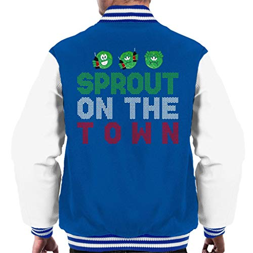 Jacket Jacket Jacket Pattern Christmas Sprouts Sprouts Sprouts Sprouts The Coto7 Varsity Knit Royal White On Town Brussel Sprout Men's FW8qcqPyp