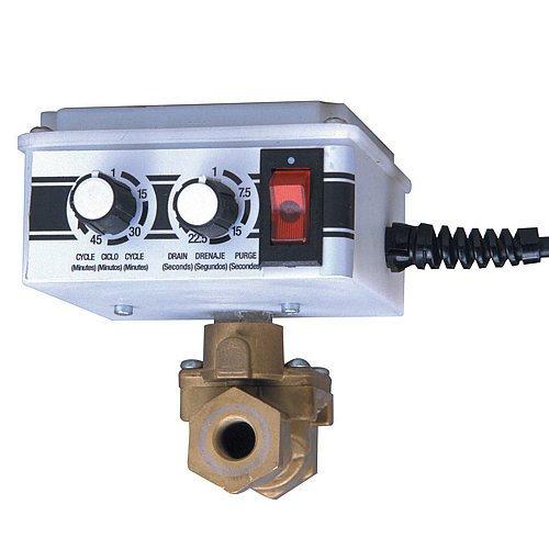 Arrow Pneumatics 5704S 1/2'' Electronic Tank Drain W/Y Strainer, 16 Scfm Max Flow, 200 Psig Max Pressure, 165 Degrees F Max Fluid Temperature
