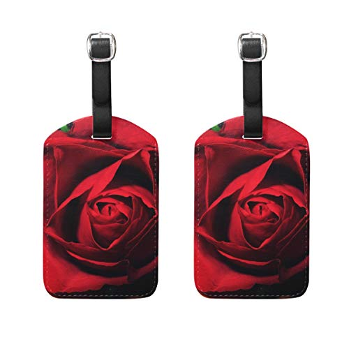 Luggage Tags Red Rose Mens Tag Holder Kids Bag Labels Traveling Accessories