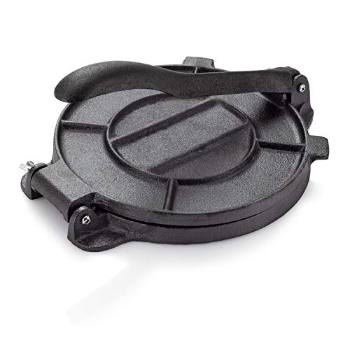 Cast Iron Tortilla Press, Tortilla, Roti, and Flatbread Maker (Pre-Seasoned) - makes fresh Corn or Flour Tortillas for grilling by Impeccable Culinary Objects (ICO) (Image #6)