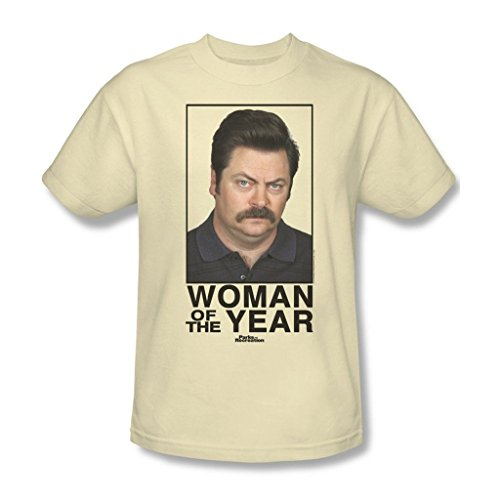 Parks & Recreation Woman Of The Year Adult Cream T-Shirt