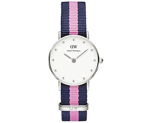 Daniel-Wellington-Reloj-para-mujer-con-correa-de-nailon-color-multicolor