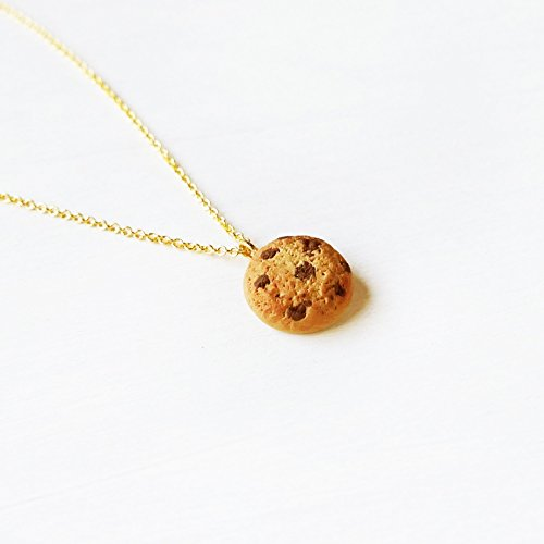 Elfi Handmade Mini Cookie Necklace, Miniature Dessert Food Jewelry, Cute Necklace, Best Selling, Cookie Charm, Lolita, Kawaii, Best Selling, Perfect for Christmas gifts
