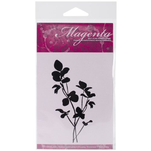 Magenta Cling Stamps, 2.25 by 4-Inch, Clover ()
