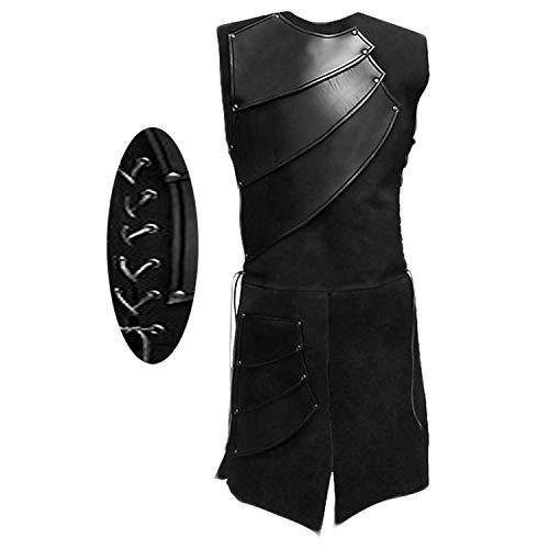 Mens Medieval Victorian Waistcoat Vest Renaissance Warrior Waistcoat Sleeveless Vests -