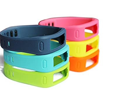 YutaoZ 6pcs Mixed Color Replacement Band for Vivofit Large Size - Different but More Comfortable Material Than Official Replacement Bands