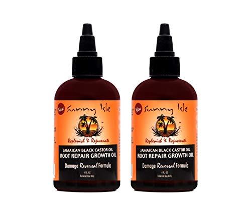 Sunny Isle Jamaican Black Castor Oil Root Repair Growth Oil 4 oz. - Pack of 2 (Sunny Isle Jamaican Black Castor Oil Hair Growth)