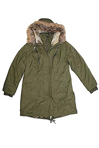 - 1 Madison Expedition Women's Heritage Collection Faux Fur Hooded Parka Jacket, Army Olive, Medium