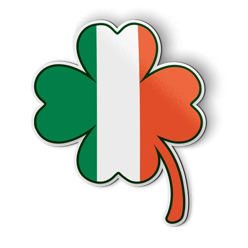 AK Wall Art Irish Flag Shamrock Shape - Magnet - Car Fridge Locker - Select Size