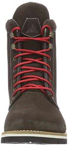 Dachstein Dirndl - botas de caño bajo de cuero mujer marrón - Braun (dark brown 4063)