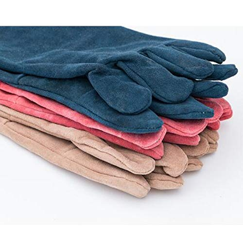 Goquik TIG Welder Protective Gloves and Long Leather Gloves, Wear-Resistant Insulation and Anti-scalding, 33cm, 10 Pairs, Random Colors by Goquik (Image #4)