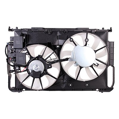 MAPM Premium Quality DUAL RADIATOR AND CONDENSER FAN ASSEMBLY; WITH MODULE by Make Auto Parts Manufacturing