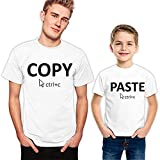 Dad and Son Matching Shirts Daddy and Kid Daughter Copy Paste Ctrl C V Funny Fathers Day Family Set Gift