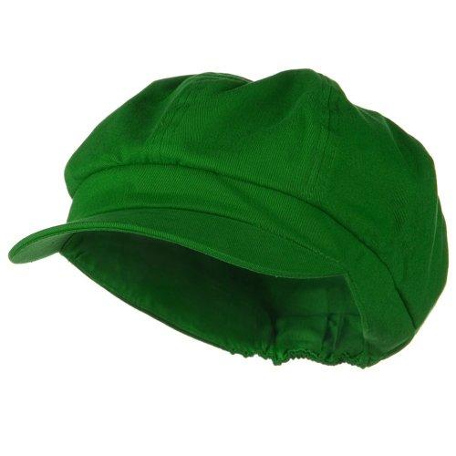 Cotton Elastic Newsboy Cap - Lime W07S37C (M/L) (Size (Green Luigi Hat)