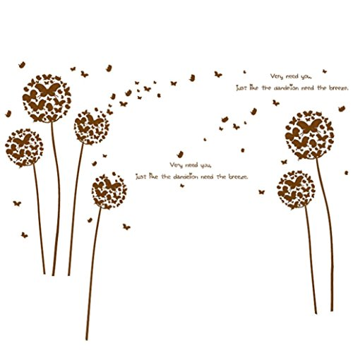 brown dandelion decal - 2