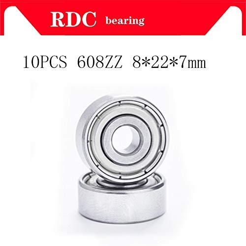 Length: ABEC 5 Ochoos 10pcs ABEC-5 608ZZ Deep Groove Ball Bearing 608 Ball Bearing 608 2Z Metal Sealed 608 608Z 608ZZ 8227