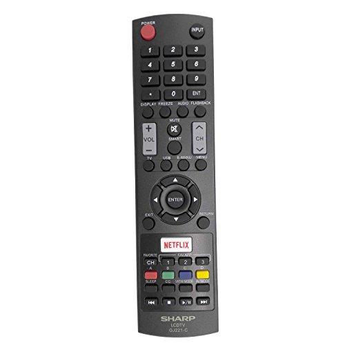 New Sharp GJ221-C Remote Control work for Sharp LED HDTV LC-32LE653U LC-40LE653U LC-43LE653U LC-48LE653U LC-55LE653U LC-65LE645U LC-65LE653U LC-65LE654U
