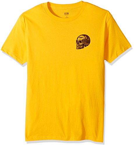 OBEY Men's Fear of a Black Planet Regular Fit Premium T-Shirt, Gold, - Clothing Planet Gold