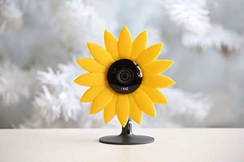 Hide-Your-Cam Nest Cam Security Camera Camouflage Sun Flower Cover Skin Case Disguise Protection Decoration Also Fits on Yi Home Cam (Camouflage Case Camera)