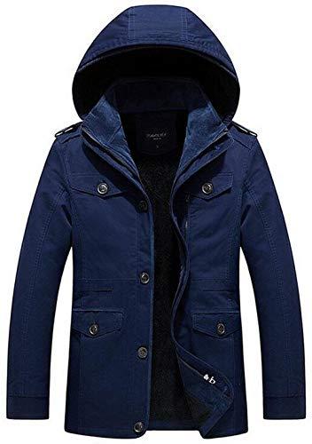 Giacca Giacca Militare Esterno Cotone Plus Plus Cappuccio Emmay in da Velluto Interno Blau Antivento Giacca Casual in Essenziale da Uomo Giacca Calda con Invernale Cappotto EUnnAOx70w