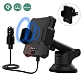 BEISTE Wireless Car Charger & Automatic Induction Car Mount Air Vent Phone Holder Cradle, Charging for iPhone 8/8 Plus/X Samsung Galaxy Note 8/S8/S8+/S7/S6 Edge+ and All QI-Enabled Device