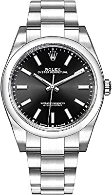 Men's Rolex Oyster Perpetual 39 Black Dial Luxury Watch (Ref. 114300) by Rolex Watches