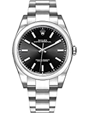 Men's Rolex Oyster Perpetual 39 Black Dial Luxury Watch (Ref. 114300)