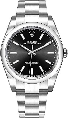 Men's Rolex Oyster Perpetual 39 Black Dial Luxury Watch (Ref. 114300)