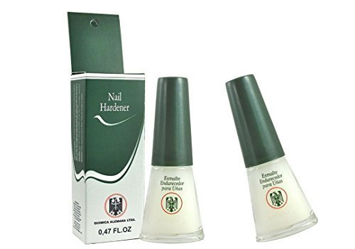 Price comparison product image QUIMICA ALEMANA Nail Hardener (protective barrier prevents chipping, peeling and splitting) - Size 0.47 Fl.oz (Pack of 2)