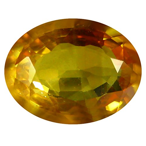 8x6mm Oval Ceylon Sapphire - 1.27 ct PGTL Certified AAA+ Oval Cut (8 x 6 mm) IF Clarity Ceylon Yellow Sapphire Loose Gemstone