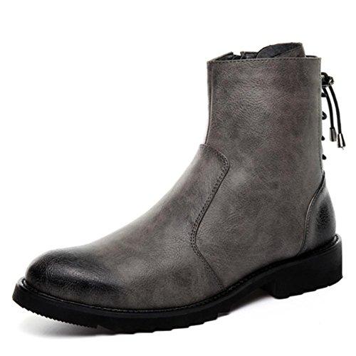 pointent mode 40 moto de ¨¦clair les W chaussures de amp;XYLes des hommes fermeture de bottes d'hiver chauds aqCYAwZq