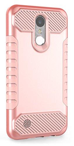LG Harmony Case,LG K20 Plus Case,LG K20 V Case, Moment Dextrad [Non-slip Grip] [Dual Layer] [Impact Resistant] Hybrid Heavy Duty Protection Cover for LG K20V / LG K20 plus / LG Harmony (Rose Gold)