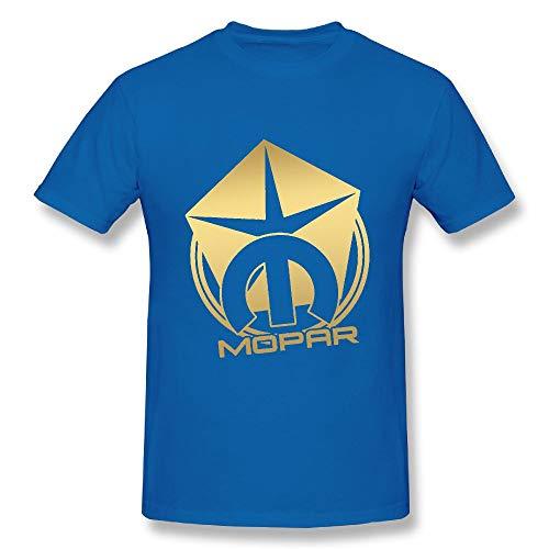 s Mopar GT Classic Outline Cool Sports RoyalBlue Shirt M Short Sleeve ()