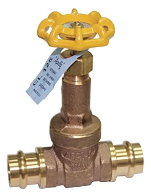 Apollo Valves - 30LF00401PR - Press Gate Valve, Inlet to Outlet Length: 4-19/64, Pipe Size: 3/4, Max. Fluid Temp.: 0 to 250 F by Apollo Valves