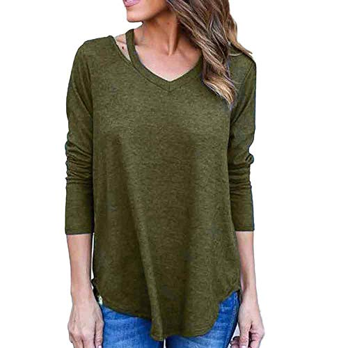 CUCUHAM Women Long Sleeve T-Shirt Off Shoulder Blouse