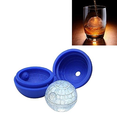 s Silicone Ice Cube Mold Size About 7 5cm Dark Blue - Drive Lock Lightsaber Force Apron Party Pencil Invitations Costumes Ray ()