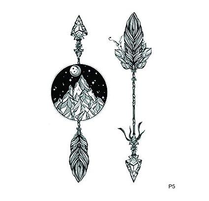 ruofengpuzi 4Pcs Impermeable Tatuaje Temporal Piedra Flecha Armas ...