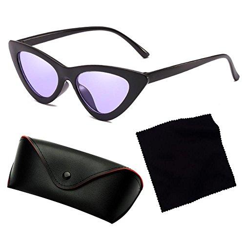 C8 sol de unisex de Gafas transparente gato Gafas sol nuevas de caja triángulo de pequeña de ojo de Gafas Highdas EHgOqw0g7