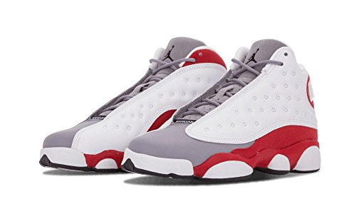 Jordan Kid's Air 13 Retro BG , WHITE/BLACK-TRUE RED-CMNT GREY, Youth Size 3.5