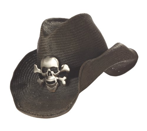 Skull Cowboy Hat (California Costumes Cowboy Hat,Black,One Size)