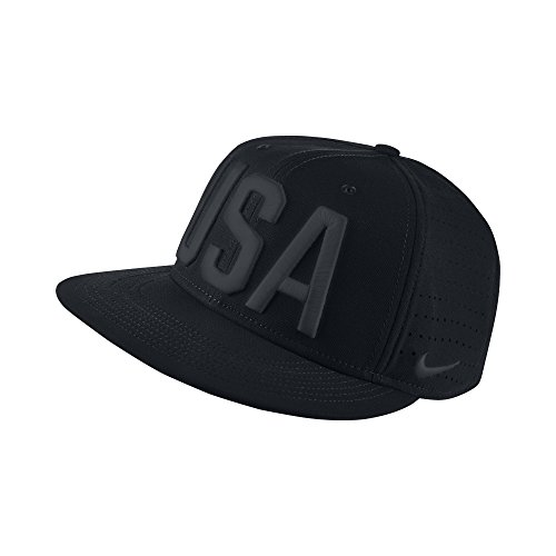 Nike ''USA'' Sports Casual Snap Back Flat Bill 822258 (black) by NIKE