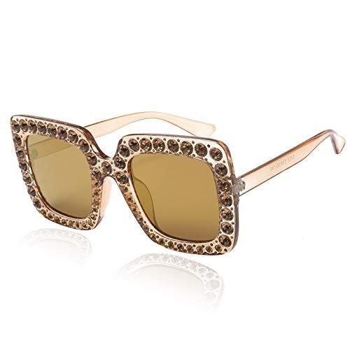 Amazon.com : YLNJYJ Moda Gafas De Sol Cuadradas Mujer ...