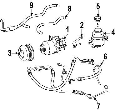 Power Steering Pressure Hose Mercedes-Benz 230 460 29 24