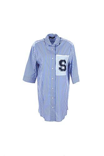Camicia Donna Twin-set 48 Blu/bianco Ps72x2 1/7 Primavera Estate 2017